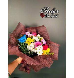 Hasırlı Karışık Bahar Çiçekleri